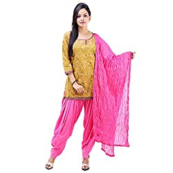 Vastra Vinod Women's Casual Wear Ergonomic Cotton Salwar Kurta Dupatta