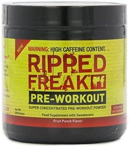 Pharma Freak Ripped Freak 200 g Fruit Punch Energy and Endurance Pre-Workout Drink Powder