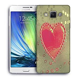 Snoogg Small Heart Printed Protective Phone Back Case Cover For Samsung Galaxy A7