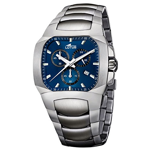 LOTUS uomo-orologio Khrono Analog Sport titan-braccialetto in titanio argento luenette-orologio UL15500/7