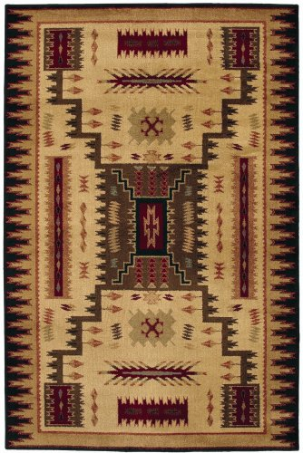 Shaw Living Accents 3-Foot 11-Inch by 5-Foot 3-Inch Rug in Storm Pattern, Multi