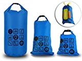 CYCLINGNET IPX4級防水スタッフバッグ・ドライパック 10L・5L・2L お得セット【OS-P14403-BLUE】