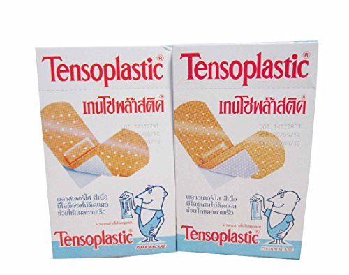 2-packs-of-tensoplastic-first-aid-transparent-plastic-adhesive-dressing-bandages-plasters-quick-woun