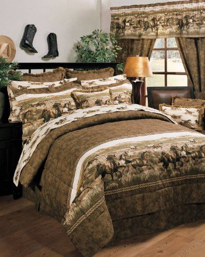 Twin Horse Comforter front-580047