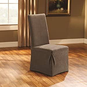 Sure Fit Stretch Pique Dining Room Chair Slipcover, Taupe