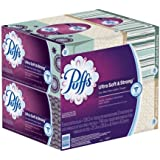 Puffs Ultra Soft and Strong Facial Tissues, 124-Count Family Boxes (Packaging May Vary), 124-ct x 12 Family Size Boxes