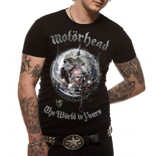 TEE SHIRT HOMME NOIR MOTORHEAD  THE WORLD IS YOURS  TAILLE XL
