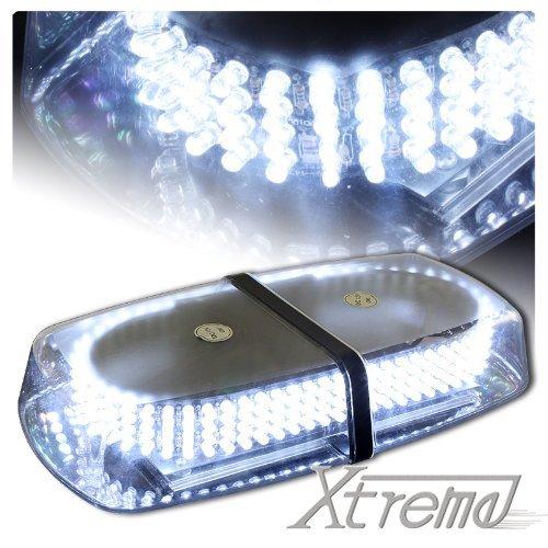Xtreme® White 240 Led Law Enforcement Emergency Hazard Warning Led Mini Bar Strobe Light With Magnetic Base