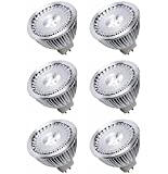 Darin 12V 5W GU5.3 MR16 LED Bulb Daylight White 5000K-50W Equivalent-380 Lumen 30 Degree With High quality Sharp LED for Home and Office Lighting, Packing of 6pcs, Not Dimmable