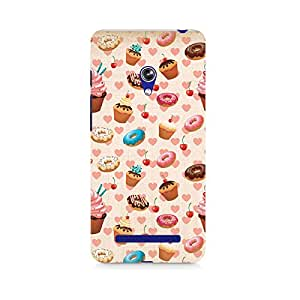 Mobicture Heart and Cakes Premium Printed Case For Asus Zenfone 5