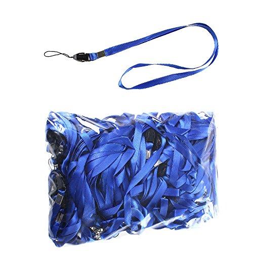 100 Pezzi Blu Lanyard per Portabadge LB001