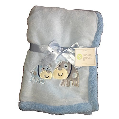 Super Plush Baby Boy Blanket Puppies