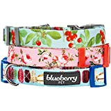 Blueberry Pet 3/8-Inch The Ultimate Macaroon Cake with Spring Pastel Hues Basic Polyester Nylon Dog Collar, X-Small