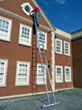 7.09m- 2 Section Extension Ladder / Ladders with Integral Stabiliser