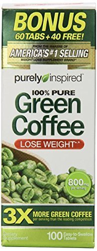 Purely Inspired Green Coffee Bean 100 Count, 2 Pack (Green Coffee Tablets compare prices)