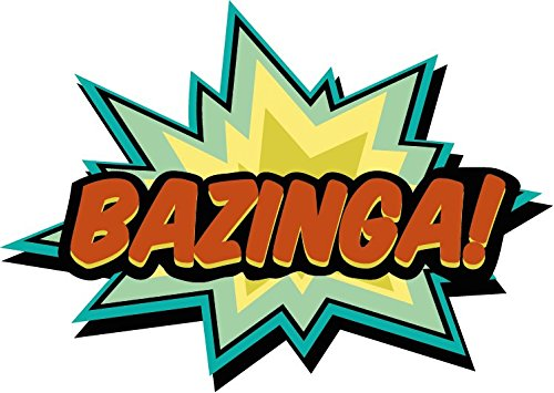 Bazinga fumetto Marvel Comic Book-Adesivo per auto 12 x 8 cm