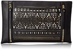 Vince Camuto Lila Clutch, Black/Pale Gold, One Size