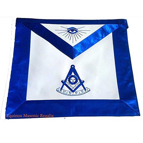 Masonic Apron Past Master York Rite Masons Silky Royal Blue Satin Borders (York Rite Apron compare prices)