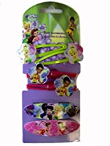 Tinkerbell Hair Accessories - Disney Tinkerbell And Fairy Friends Hair Snap Clips (6 Pieces) - Fairies