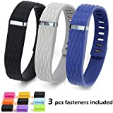 EverAct™ Colorful Replacement Bands For Fitbit Flex Only, Large/3D Version: Black&Gary&Navy