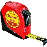 Starrett Exact KTS12-3.5M-N ABS Plastic Case Red Measuring Pocket Tape, Metric Graduation Style, 3.5m Length, 12.7mm Width, 1.58mm Graduation Interval