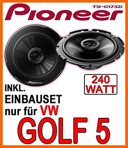 VW-Golf-5-Front-Lautsprecher-Pioneer-TS-G1732i-16cm-Einbauset