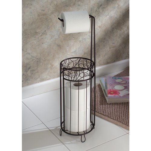 Interdesign twigz toilet paper stand bathroom roll holder Toilet paper holder free standing