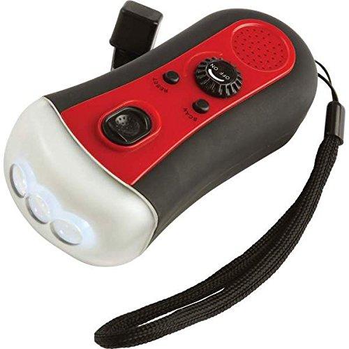 M-Tronic Wind-Up FM Radio/3-Bulb LED Flashlight - ELCRFR