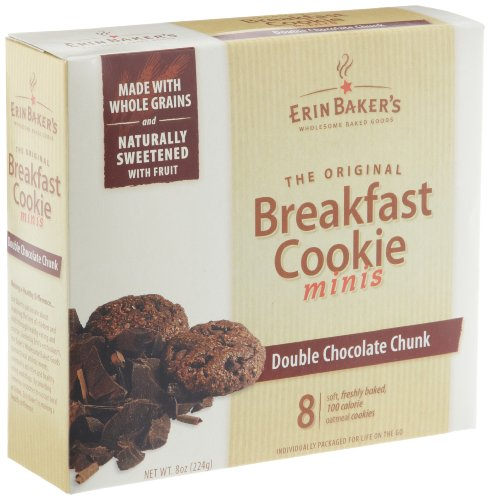 Erin Baker's Breakfast Cookie Minis, Double Chocolate Chunk, 8-Count 8-Ounce Boxes (Pack of 6)