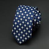 WSS Corbata poliéster flechas moda corbata raya estrecha corbata hombres . 2
