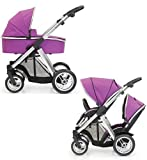 BabyStyle Oyster MAX Inline Double Pushchair (inc 2nd Seat & Carrycot) Grape