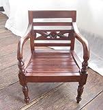 MANJA バリ雑貨 木製ミニチュア家具 レノンチェア ミニファニチャー (B) WOO-0230