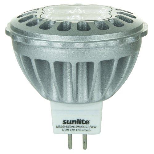 Sunlite Mr16/4Led/6.5W/Gu5.3/12V/Ww 12-Volt 6.5-Watt Gu5.3 Based Mr16 Lamp, Warm White