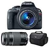 Canon EOS Rebel SL1 18.0 MP CMOS Digital SLR with 18-55mm EF-S IS STM Lens + Canon EF 75-300mm f/4-5.6 III Telephoto Zoom Lens