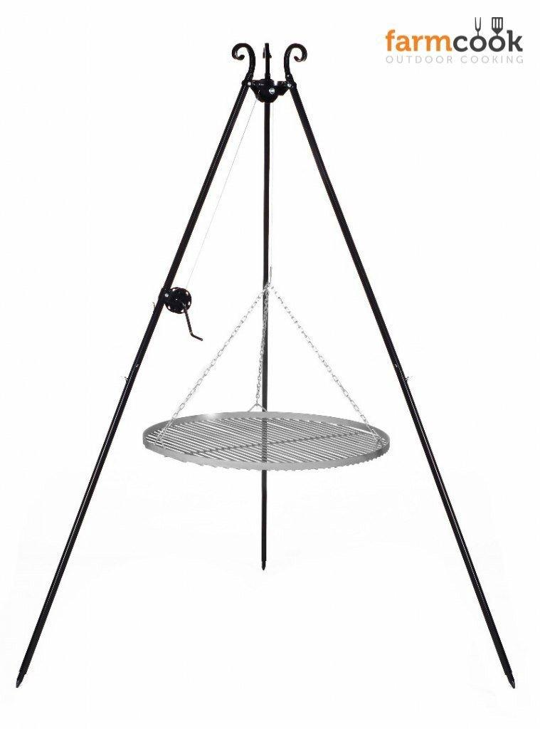 Dreibeingrill Höhe 192cm mit Kurbel und Stahlrost Durchmesser 60cm jetzt kaufen