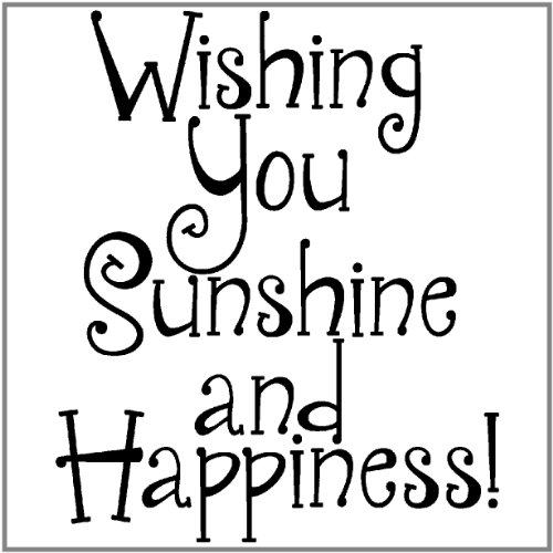 "Inky Antics Mounted Rubber Stamp 2""X1.5""-Sunshine & Happiness - 1"
