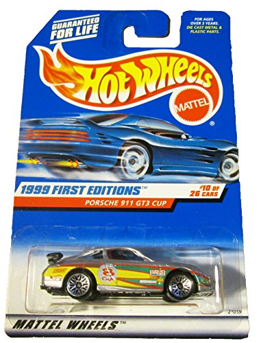 Hot Wheels Porsche 911 Gt3 Cup Silver W/black Wing 1999 First Editions #10 - 1