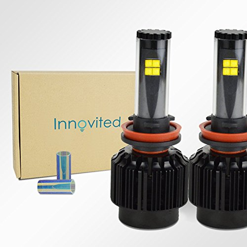 Innovited All In One LED Headlight Conversion Kit - H11 (H9 H8) - 6000K 80W 7,200Lm With CREE Bulbs - 2 Year Warranty (H11 80w Led Headlight Bulb compare prices)