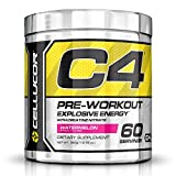 Cellucor C4 Pre Workout Supplements with Creatine, Nitric Oxide, Beta Alanine and Energy, 60 Servings, Watermelon, 13.75 Oz (390 g)