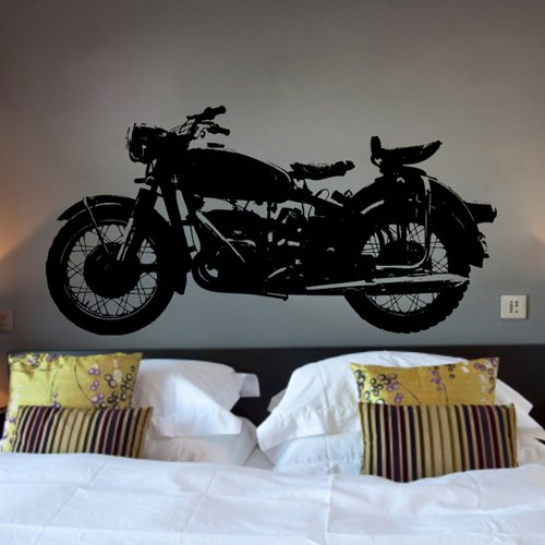 """23.6"""" X 43.3"""" New Wall Murals Wall Paper Black Motorcycle Vinyl Wall Decal- Harley Davidson Interior Design Diy Lettering Saying Wall Art Decal Sticker Home Decoration front-722214"""