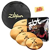 Zildjian ZBTP390-A ZBT Cymbal Set Bundle with Gig Bag and Austin Bazaar Polishing Cloth