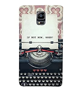 VINTAGE TYPEWRITER WITH A QUOTE 3D Hard Polycarbonate Designer Back Case Cover for Samsung Galaxy Note 4 N910 :: Samsung Galaxy Note 4 Duos N9100
