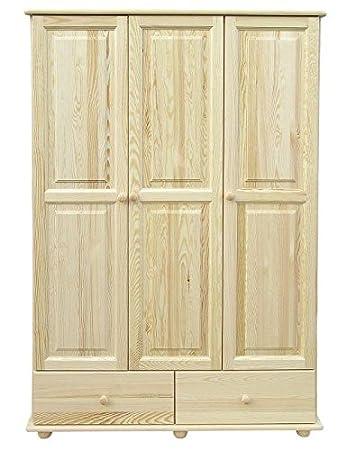 Massivholz-Kleiderschrank Natur 195x123x59 cm