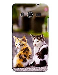 Clarks Two Cats Hard Plastic Printed Back Cover/Case For Samsung Galaxy Core 2