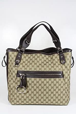Gucci Handbags Large Beige and Brown Leather 232952