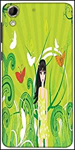 Snoogg Abstract Illustration Designer Protective Back Case Cover For HTC Desire 728