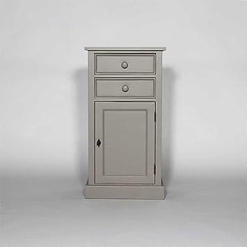 Confiturier 1 puerta, 2 cajones madera de pino maciza, N208, gris claro, 35