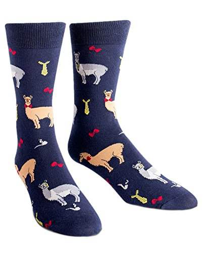 Sock It to Me Men's Crew Socks Llama Drama