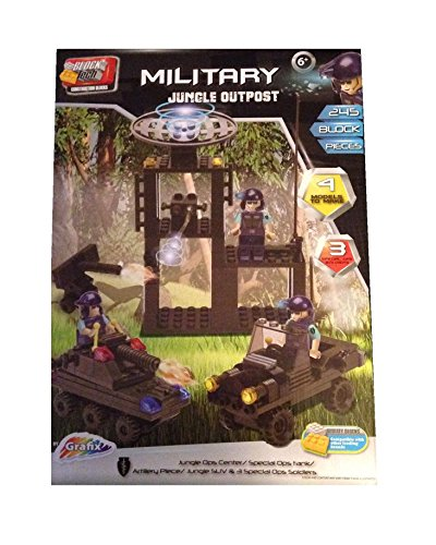 Military Jungle Outpost 245 Block Pieces