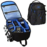 Acuvar Professional DSLR Camera Backpack with Rain Cover for Canon - Nikon - Sony - Olympus - Samsung - Panasonic - Pentax models.